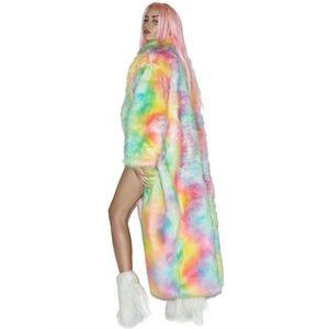 Jackets & Coats - J Valentine Rainbow Flashing Lights Long Coat